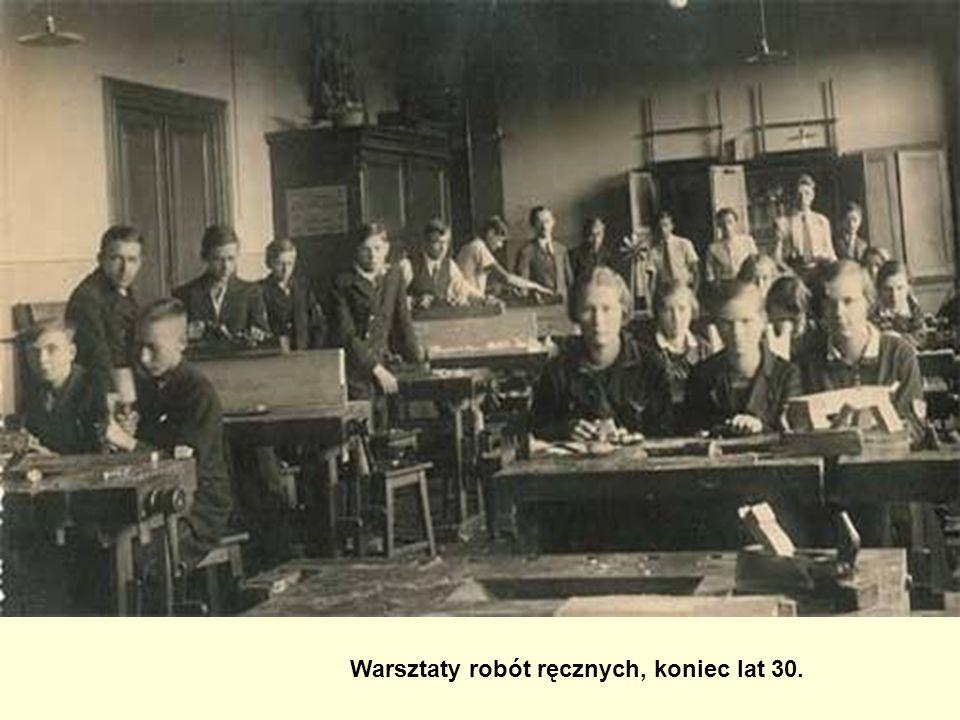 Warsztaty robót ręcznych, koniec lat 30.