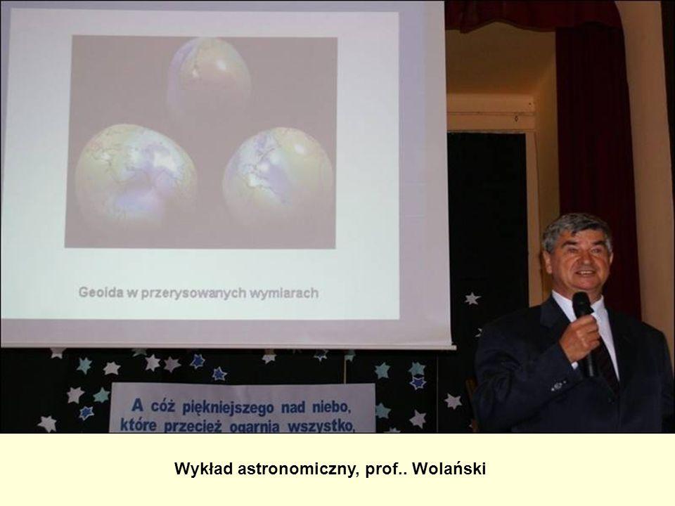 Wykład astronomiczny, prof.. Wolański
