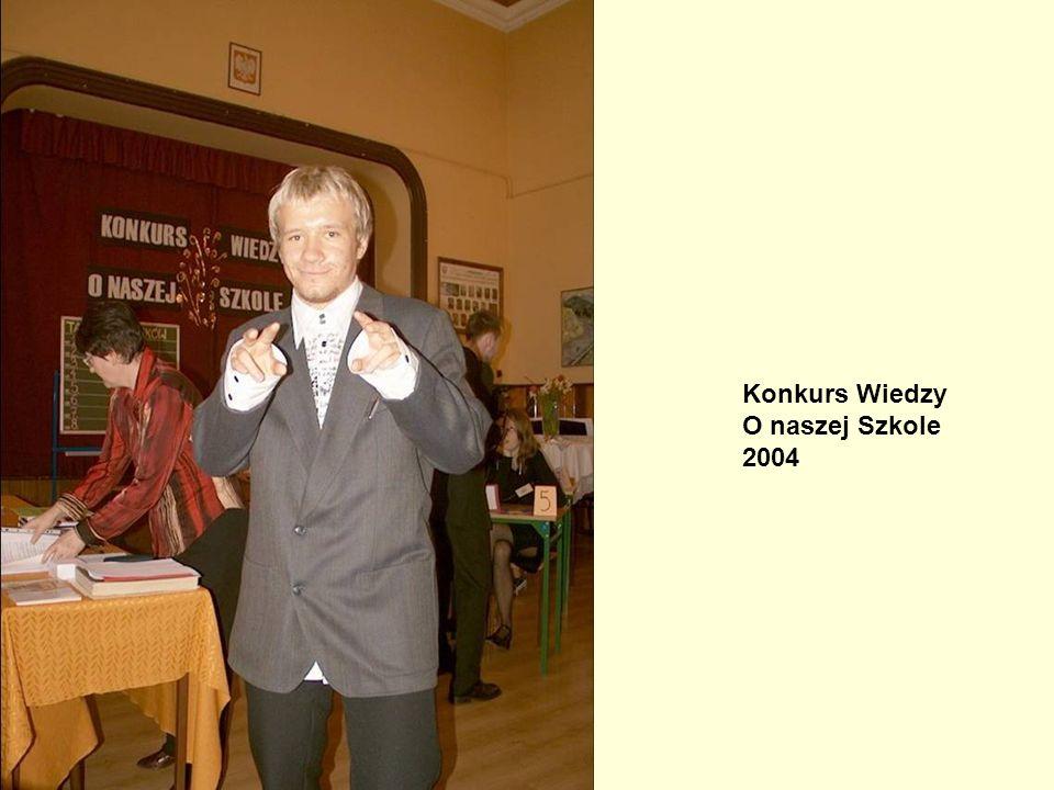 Konkurs Wiedzy o Naszej Szkole, 2004 Konkurs Wiedzy O naszej Szkole 2004