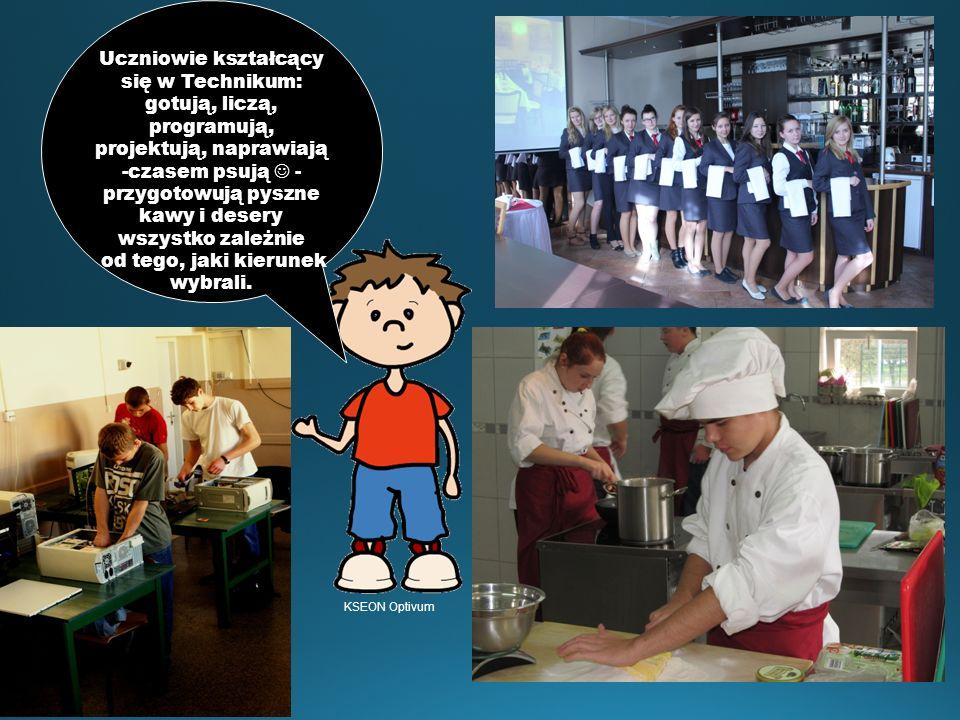 Uczniowie kształcący się w Technikum: gotują, liczą, programują, projektują, naprawiają -czasem psują - przygotowują pyszne kawy i desery wszystko zal