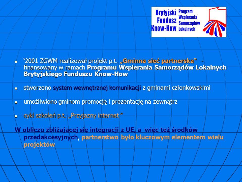 2001 ZGWM realizował projekt p.t.