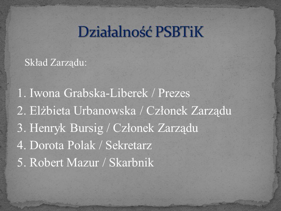 Skład Zarządu: 1. Iwona Grabska-Liberek / Prezes 2. Elżbieta Urbanowska / Członek Zarządu 3. Henryk Bursig / Członek Zarządu 4. Dorota Polak / Sekreta