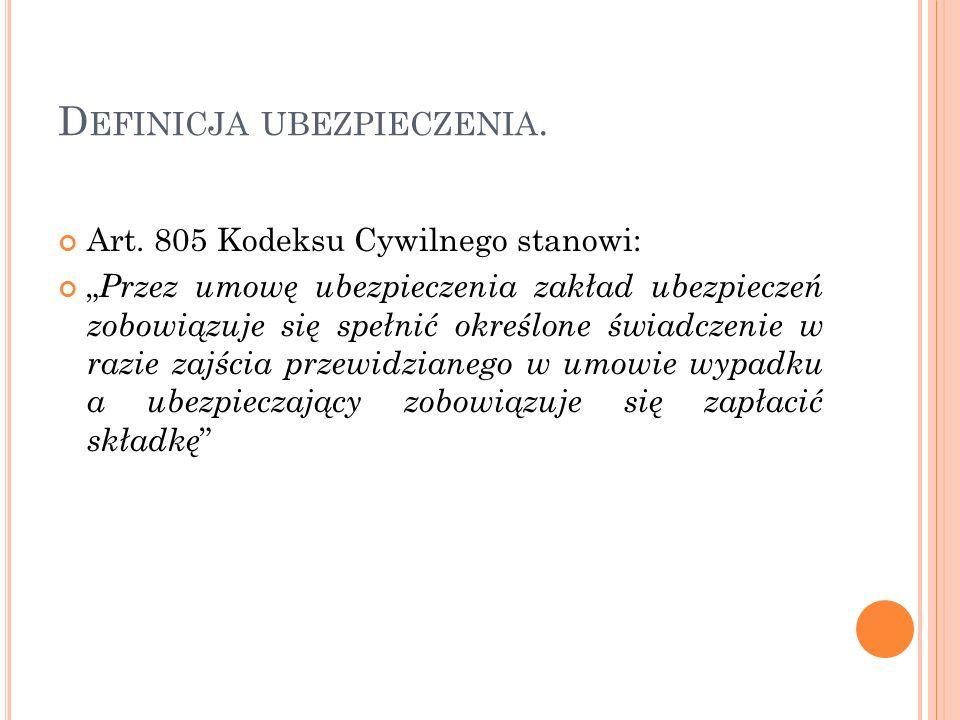 C ZYNNOŚCI UBEZPIECZENIOWE.1.