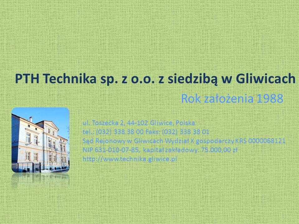 PTH Technika sp.z o.o. z siedzibą w Gliwicach Rok założenia 1988 ul.