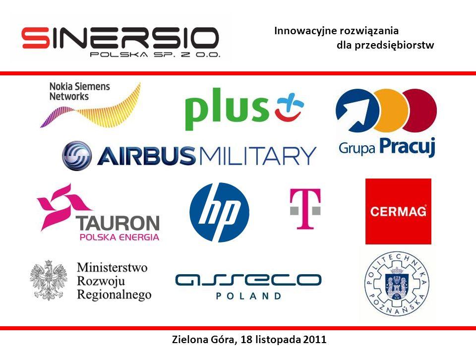 Zielona Góra, 18 listopada 2011 Innowacyjne rozwiązania dla przedsiębiorstw