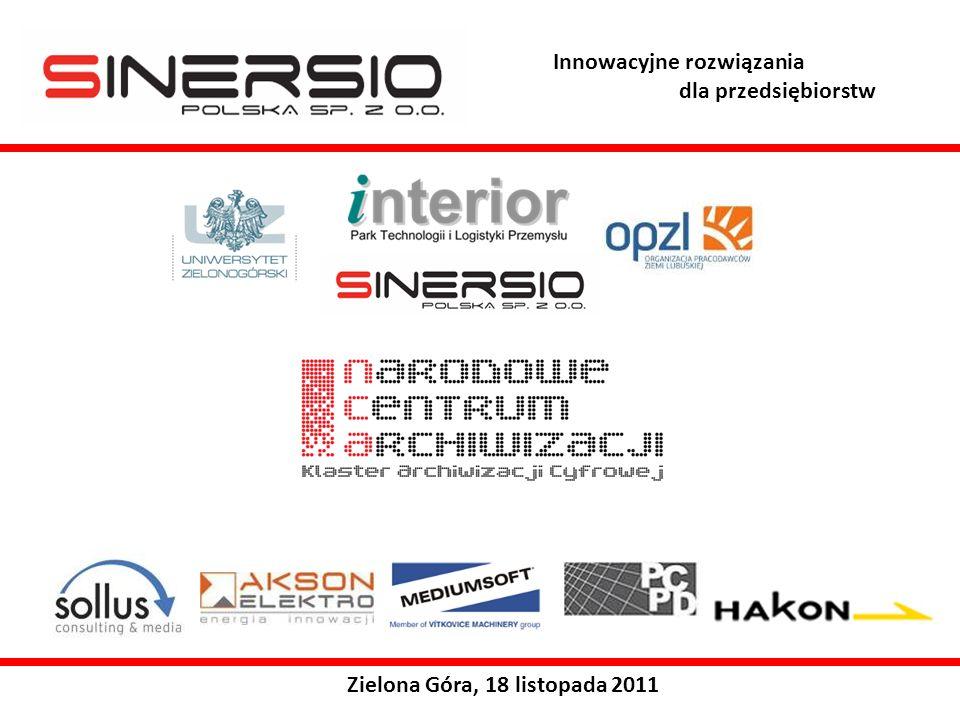 Innowacyjne rozwiązania dla przedsiębiorstw Zielona Góra, 18 listopada 2011