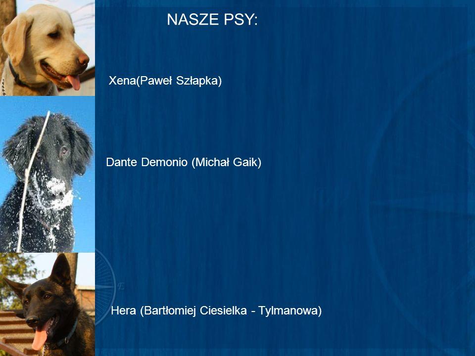 NASZE PSY: Xena(Paweł Szłapka) Dante Demonio (Michał Gaik) Hera (Bartłomiej Ciesielka - Tylmanowa)