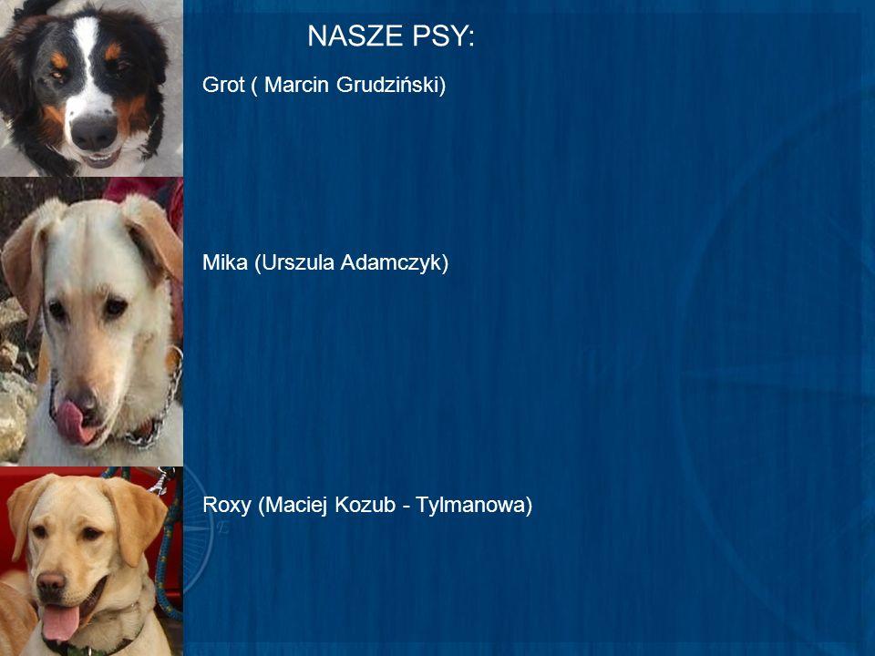NASZE PSY: Grot ( Marcin Grudziński) Mika (Urszula Adamczyk) Roxy (Maciej Kozub - Tylmanowa)