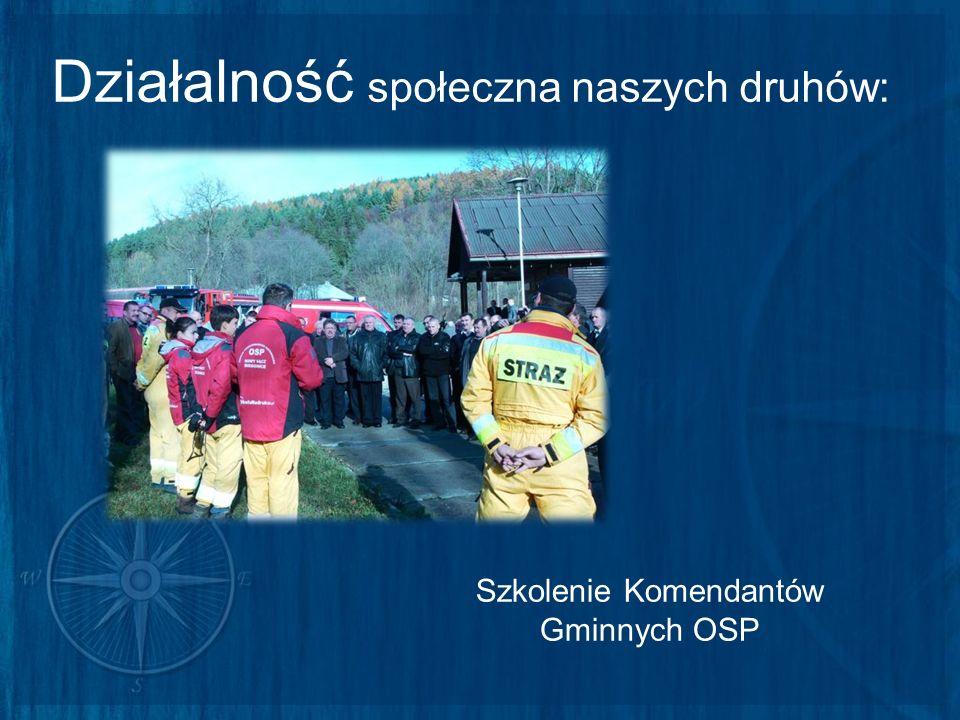 Działalność społeczna naszych druhów: Szkolenie Komendantów Gminnych OSP