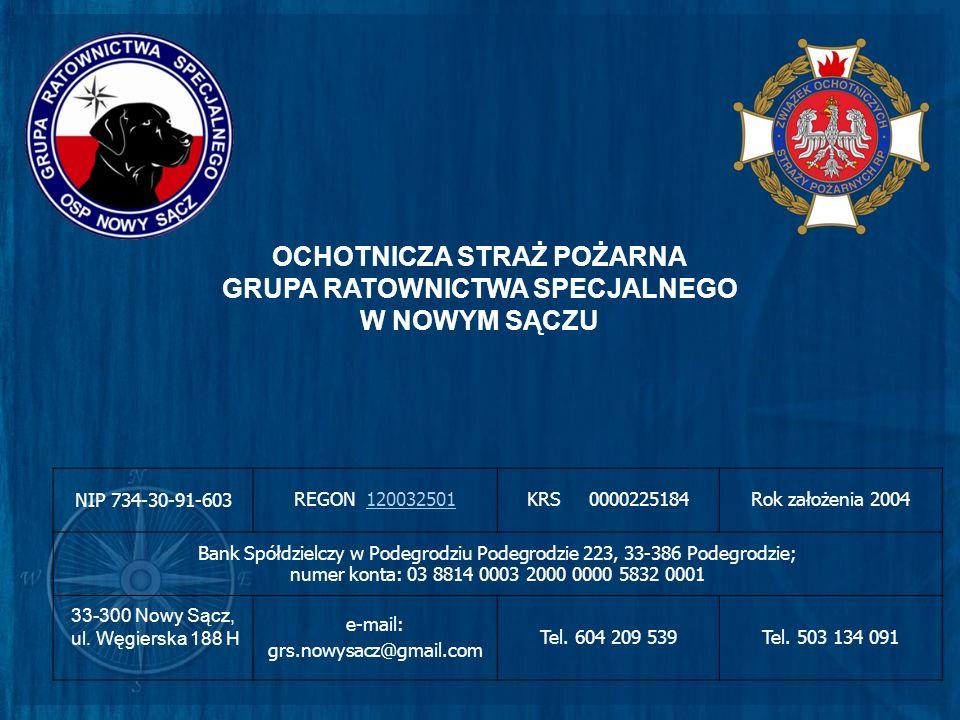 NIP 734-30-91-603 REGON 120032501120032501KRS 0000225184Rok założenia 2004 Bank Spółdzielczy w Podegrodziu Podegrodzie 223, 33-386 Podegrodzie; numer