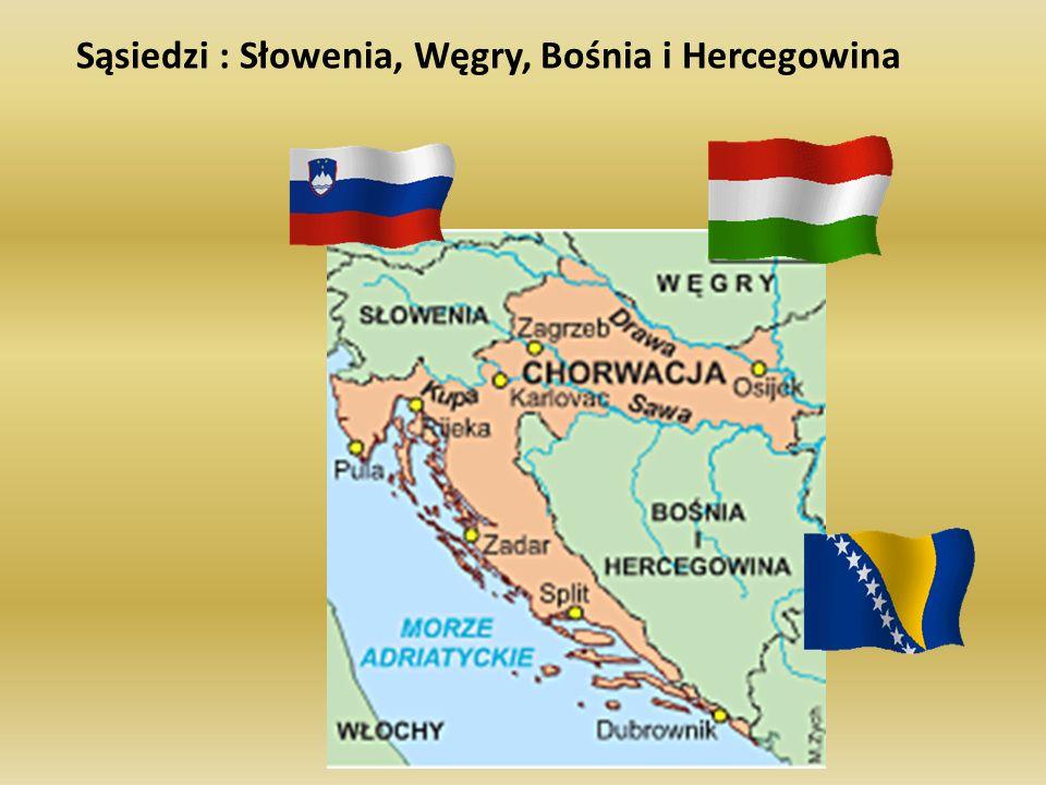 Sąsiedzi : Słowenia, Węgry, Bośnia i Hercegowina