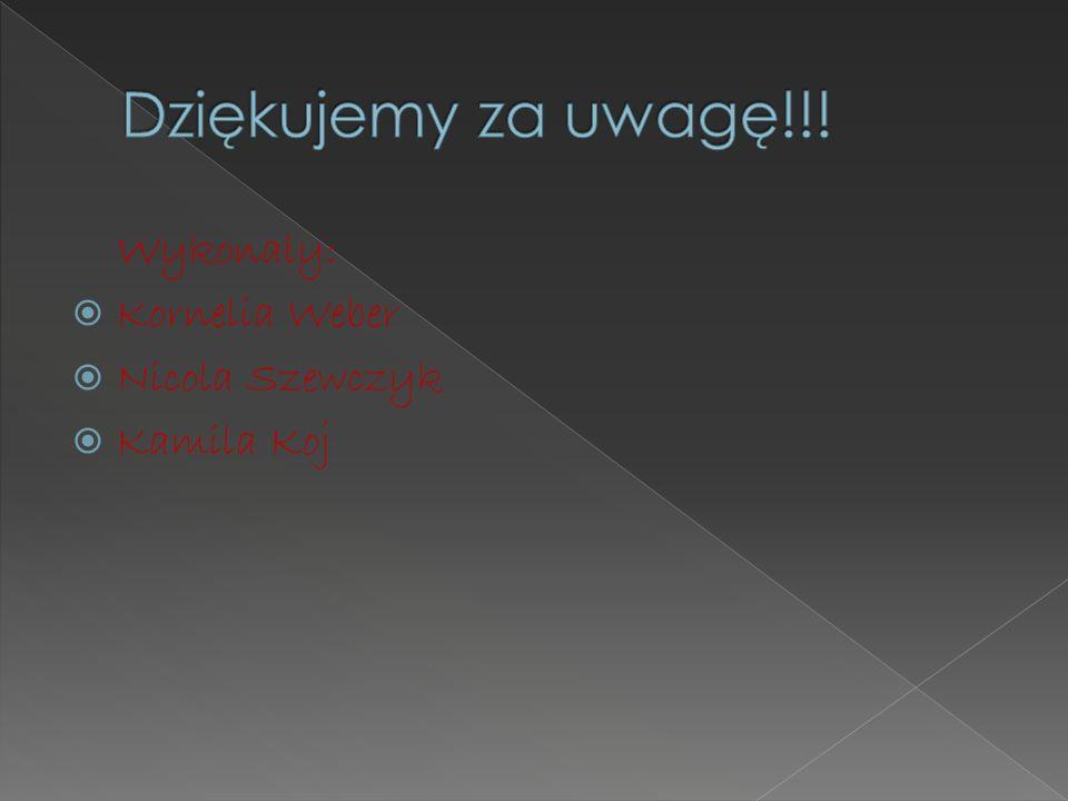Wykonały: Kornelia Weber Nicola Szewczyk Kamila Koj