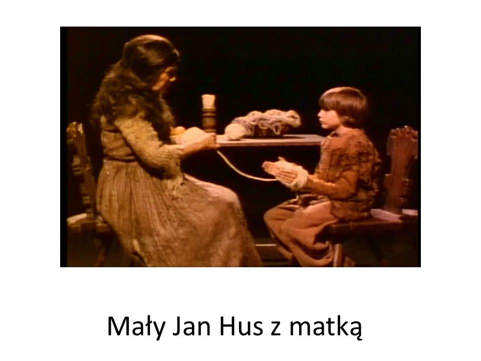 Mały Jan Hus z matką