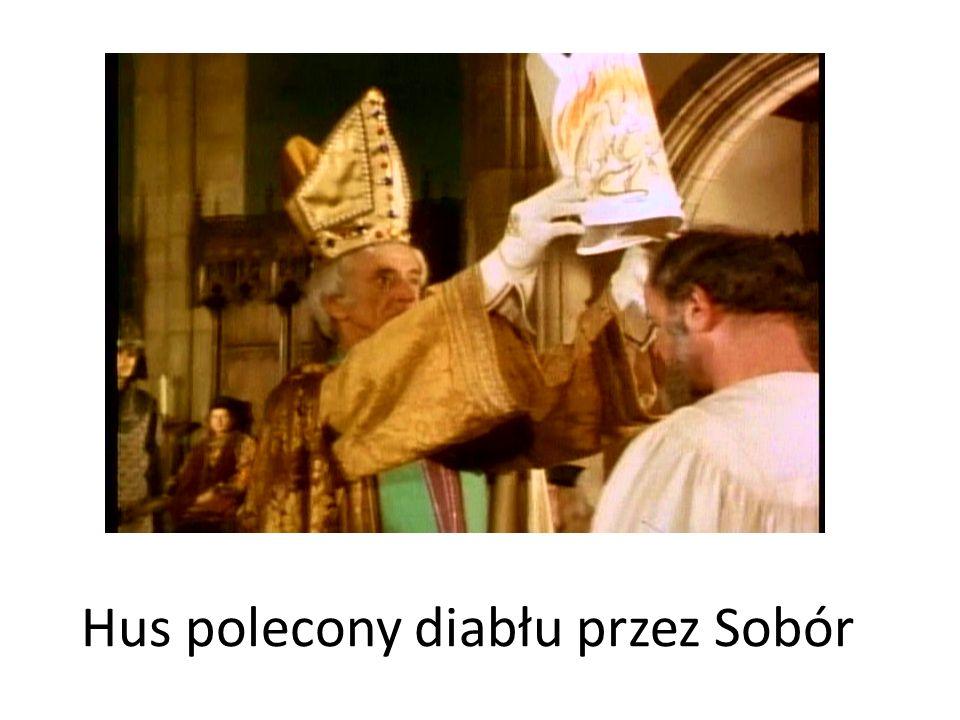 Hus polecony diabłu przez Sobór