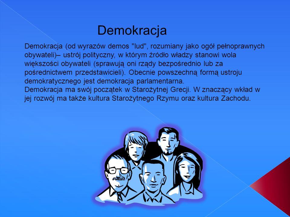 Demokracja (od wyrazów demos