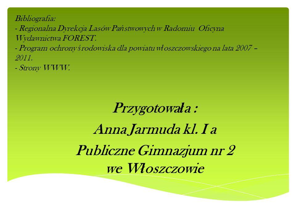 Bibliografia: - Regionalna Dyrekcja Lasów Pa ń stwowych w Radomiu Oficyna Wydawnictwa FOREST. - Program ochrony ś rodowiska dla powiatu w ł oszczowski