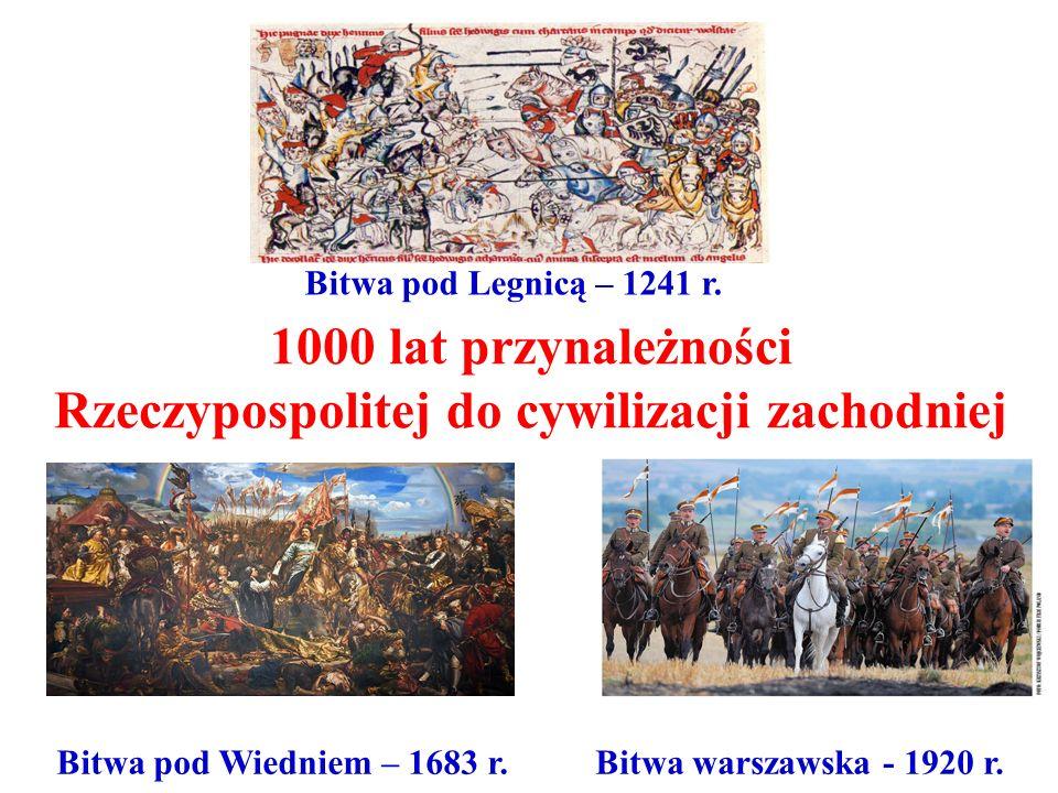 1000 lat przynależności Rzeczypospolitej do cywilizacji zachodniej Bitwa pod Legnicą – 1241 r. Bitwa pod Wiedniem – 1683 r.Bitwa warszawska - 1920 r.