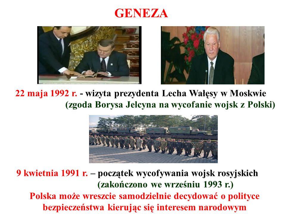 9 kwietnia 1991 r. – początek wycofywania wojsk rosyjskich (zakończono we wrześniu 1993 r.) Polska może wreszcie samodzielnie decydować o polityce bez