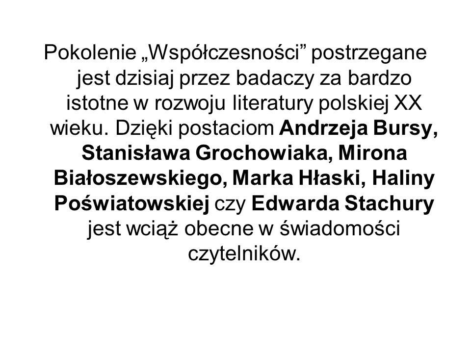 Pokolenie Współczesności postrzegane jest dzisiaj przez badaczy za bardzo istotne w rozwoju literatury polskiej XX wieku.