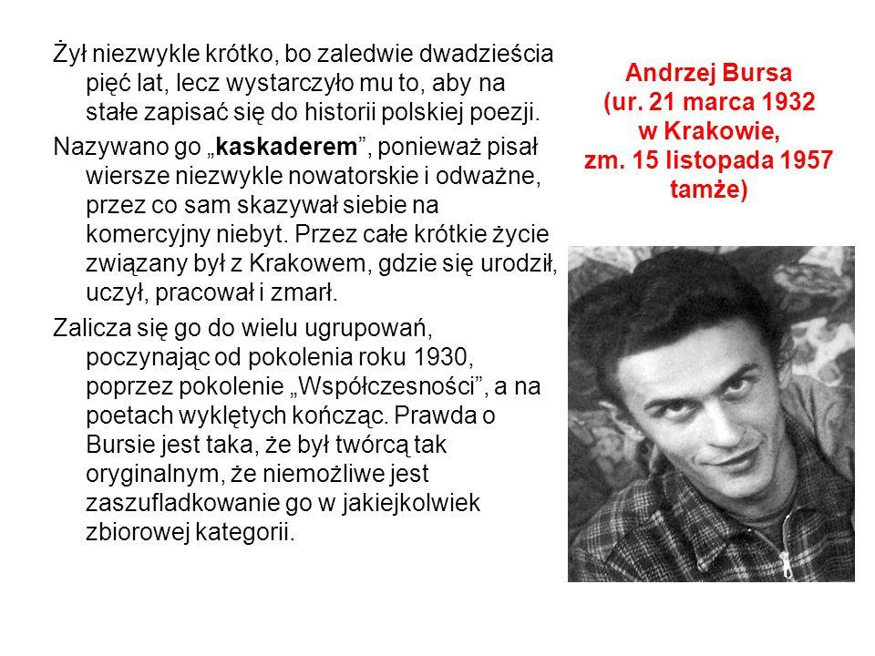 Andrzej Bursa (ur.21 marca 1932 w Krakowie, zm.