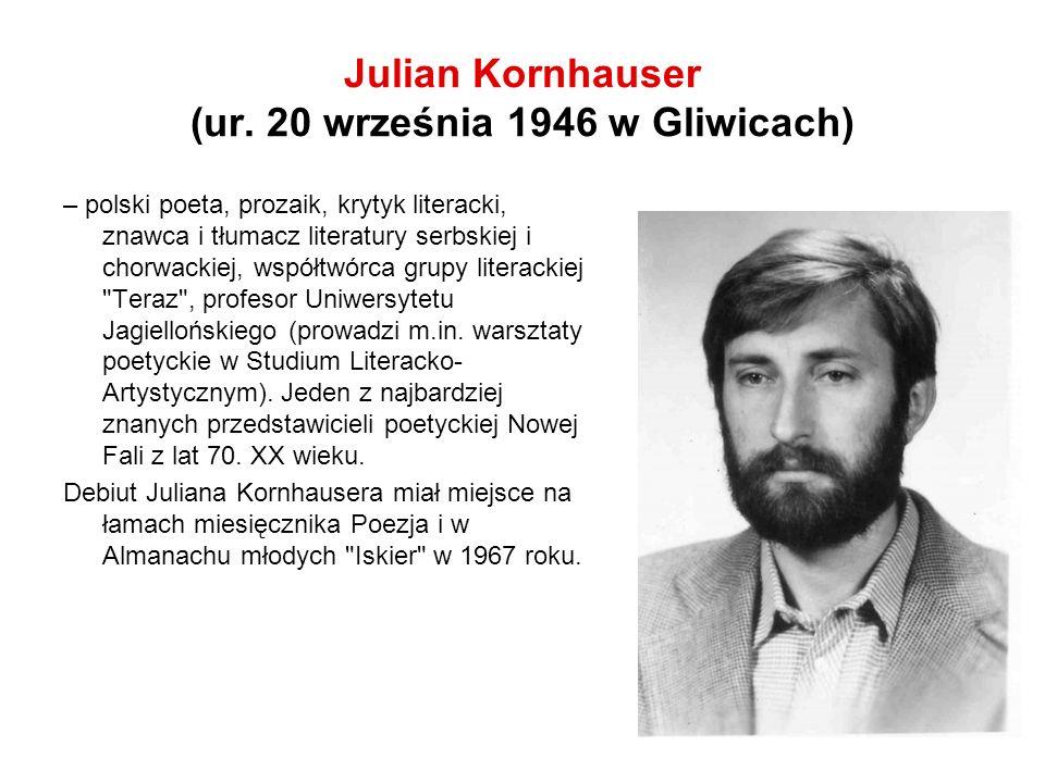 Poezja Nastanie święto i dla leniuchów, Warszawa, Iskry, 1972 W fabrykach udajemy smutnych rewolucjonistów, Kraków, WL, 1973 Zabójstwo, Kraków, wyd.