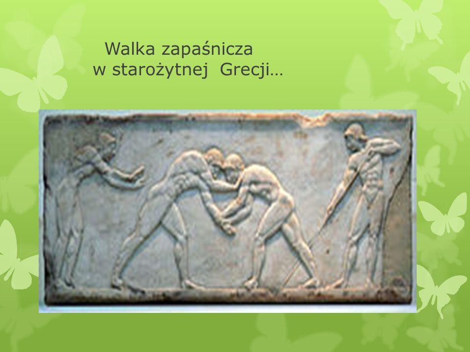 Walka zapaśnicza w starożytnej Grecji…