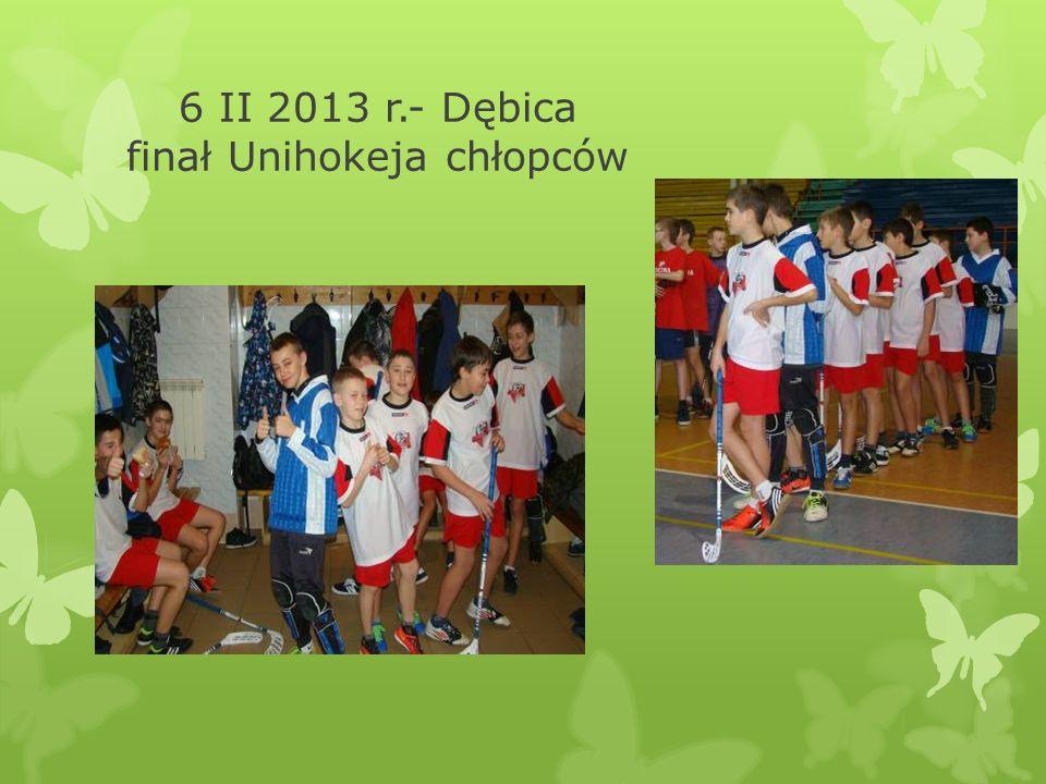 6 II 2013 r.- Dębica finał Unihokeja chłopców
