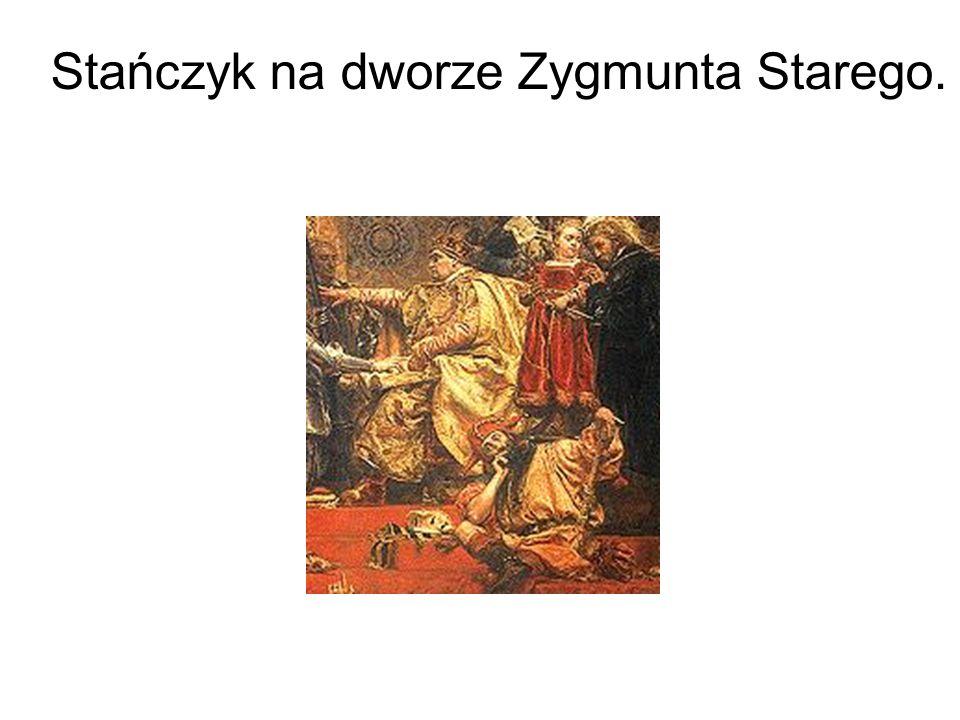 Stańczyk na dworze Zygmunta Starego.