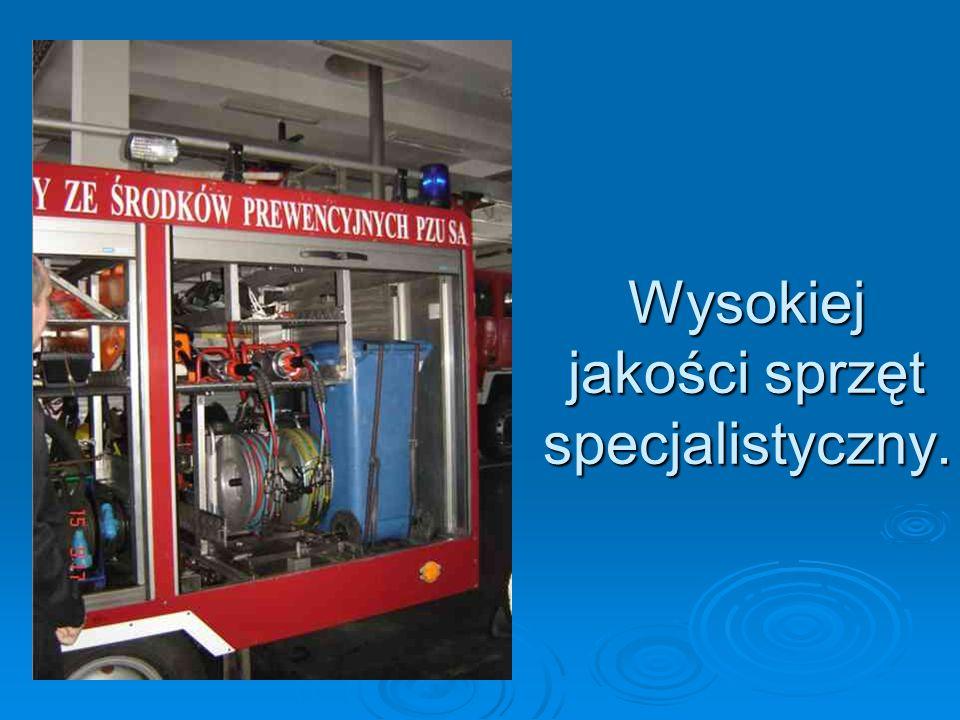 Wysokiej jakości sprzęt specjalistyczny.