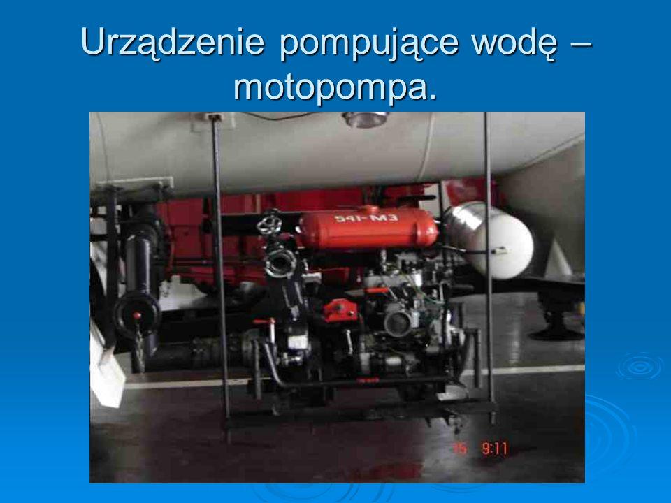 Urządzenie pompujące wodę – motopompa.