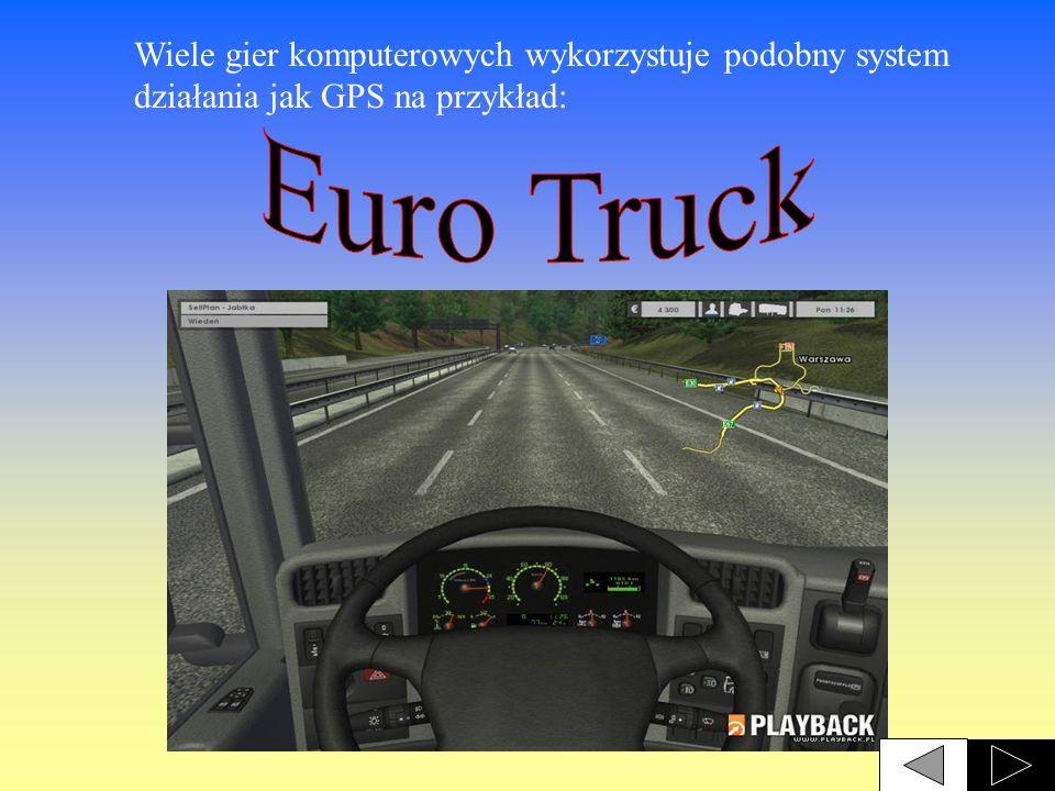 Wiele gier komputerowych wykorzystuje podobny system działania jak GPS na przykład: