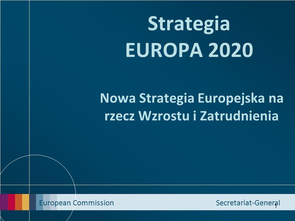 European Commission Secretariat-General 1 Strategia EUROPA 2020 Nowa Strategia Europejska na rzecz Wzrostu i Zatrudnienia