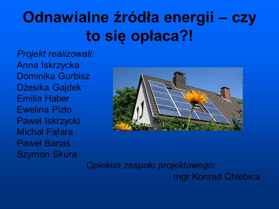 Odnawialne źródła energii – czy to się opłaca?.