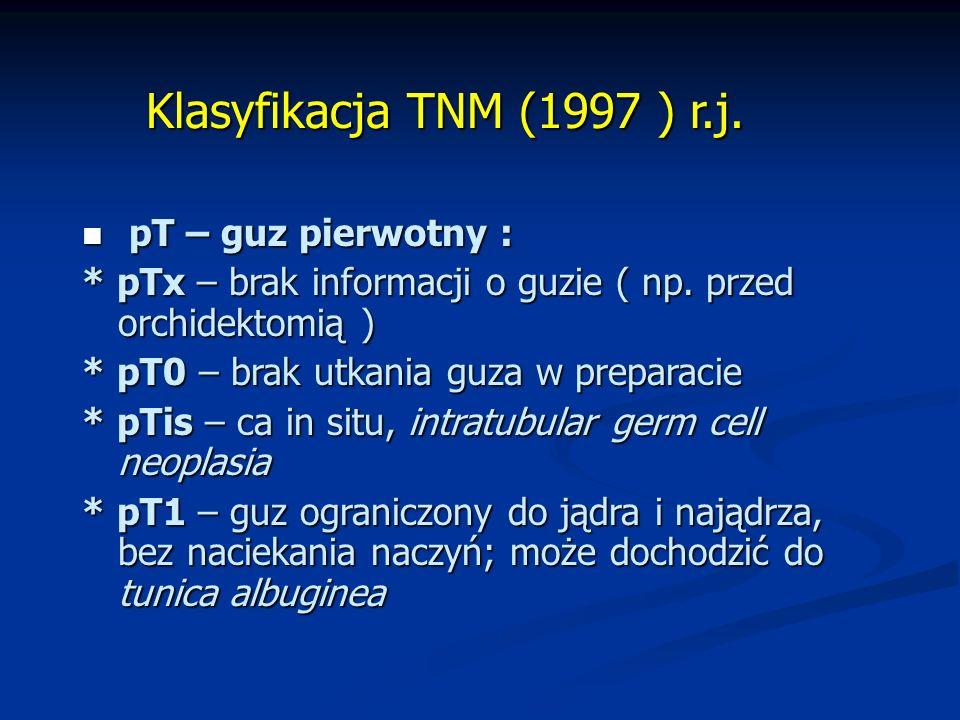 Klasyfikacja TNM (1997 ) r.j.Klasyfikacja TNM (1997 ) r.j.
