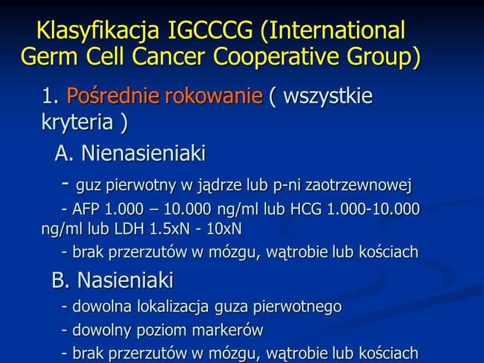 Klasyfikacja IGCCCG (International Germ Cell Cancer Cooperative Group) 1.