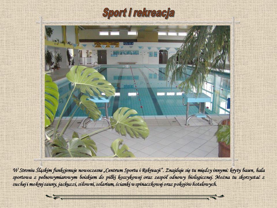 W Stroniu Śląskim funkcjonuje nowoczesne Centrum Sportu i Rekreacji. Znajduje się tu między innymi: kryty basen, hala sportowa z pełnowymiarowym boisk
