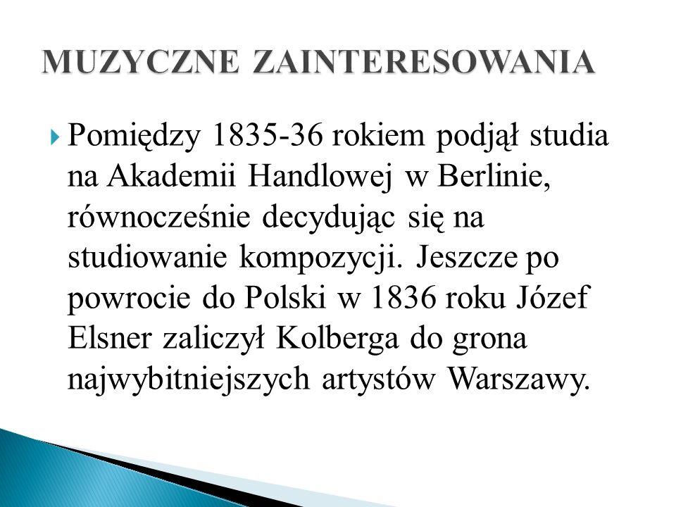 Pomiędzy 1835-36 rokiem podjął studia na Akademii Handlowej w Berlinie, równocześnie decydując się na studiowanie kompozycji. Jeszcze po powrocie do P