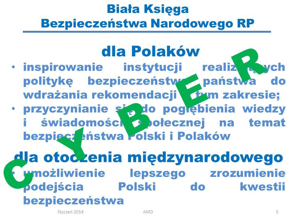 Biała Księga Bezpieczeństwa Narodowego RP 5 dla Polaków inspirowanie instytucji realizujących politykę bezpieczeństwa państwa do wdrażania rekomendacj