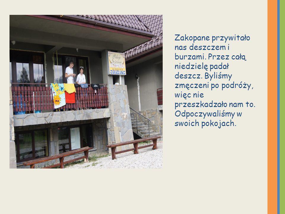 Treningi odbywały się w różnych miejscach Zakopanego Każde przedpołudnie witaliśmy treningiem