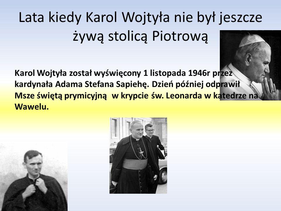 Karolo Wojtyła przez wojnę stracił możliwość kontynuacji studiów zaczął więc pracować jako pracownik fizyczny w zakładach chemicznych Solvay. Później