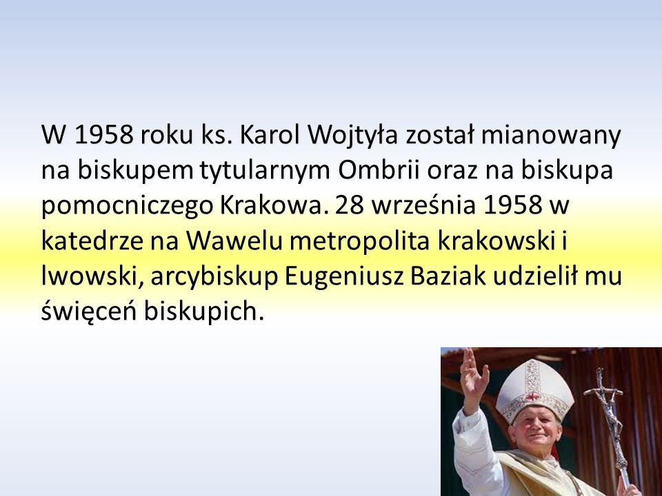 Dnia 15 listopada 1946 roku ks.Wojtyła udaje się do Rzymu w celu kontynuacji studiów.