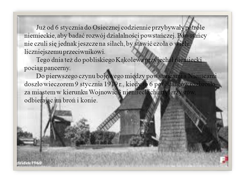 Już od 6 stycznia do Osiecznej codziennie przybywały patrole niemieckie, aby badać rozwój działalności powstańczej. Powstańcy nie czuli się jednak jes