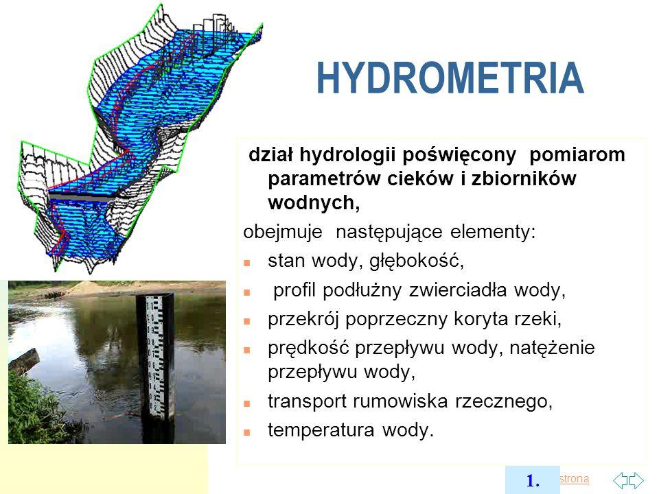 Pierwsza strona Stany wody n Łaty wodowskazowe (odczyty wizualne) n Samopisy (limnigrafy): analogowe, cyfrowe( różne typy czujników).