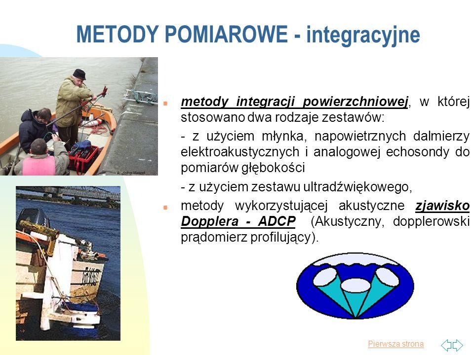 Pierwsza strona Metoda integracji powierzchniowej (metoda ruchomej łodzi) 14.