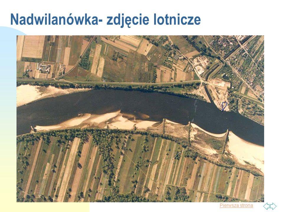 Pierwsza strona Tranzyt aluwiów Przykłady ze zdjęć lotniczych wykonanych przez Ośrodek Hydrologii IMGW km:494 km:498 km:500 10.