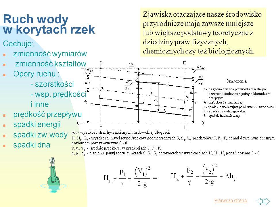 Pierwsza strona SUPLEMENT n Charakterystyka rzeki Wisły n Znaczące wezbrania z lat 1998- 2001 (na Wiśle środkowej) n powodziowa tragedia w Czechach n czy nam to też grozi ?