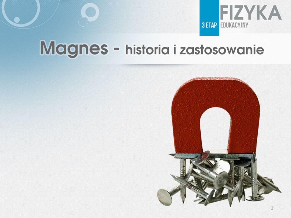Magnes przed wiekami Magnes znali już starożytni Rzymianie.