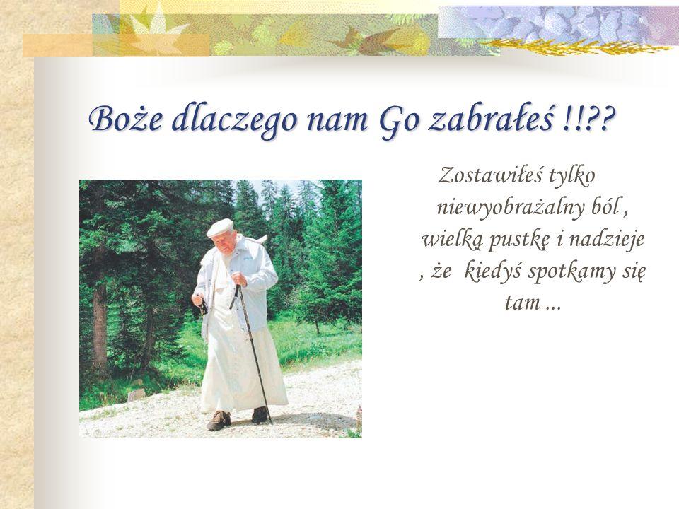 Śmierć... 2 kwietnia 2005 roku o godzinie 21.37. Odszedł od nas Wielki człowiek, Wielki papież, Wielki Polak !!!! Karol Wojtyła Papież Jan Paweł II