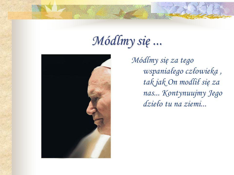 Płacze... Płacze dziś cala polska, płacze cały świat. Płacze pogrążona w wielkim żalu...bo straciła ojca, przyjaciela, przewodnika...
