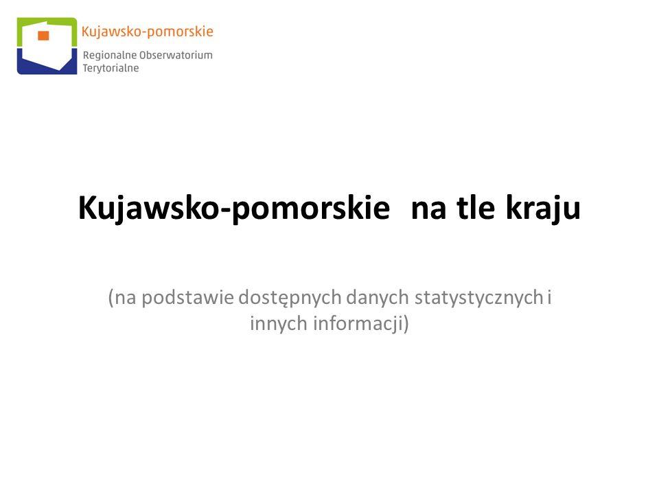 Kujawsko-pomorskie na tle kraju (na podstawie dostępnych danych statystycznych i innych informacji)
